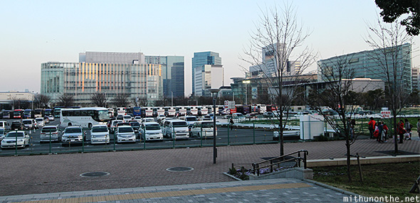 Diver City mall parking Odaiba Japan