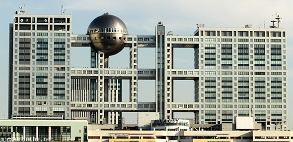 Fuji TV headquarters building Odaiba Japan