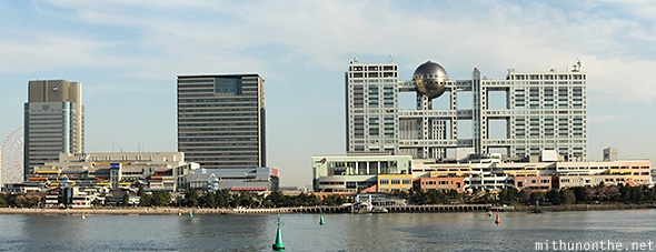 Fuji TV Odaiba panorama Japan