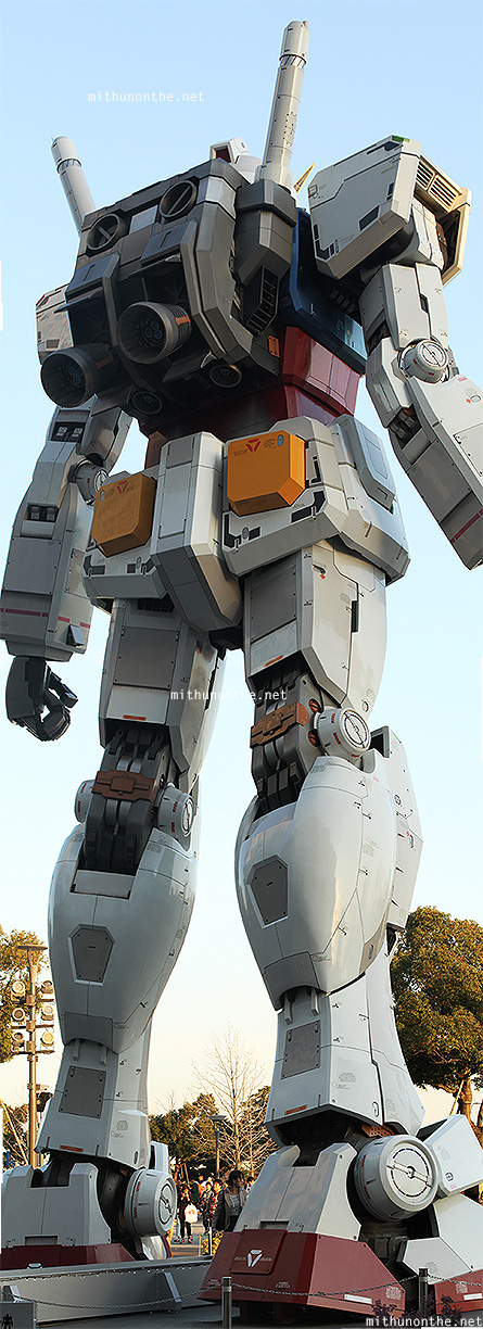 Giant Gundam statue back side