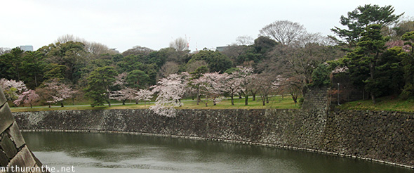 The entire Imperial Palace complex is like an island surrounded by a stream of water