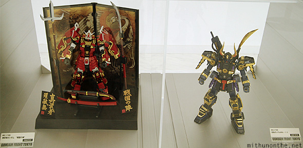 Premium Gunpla model kits display