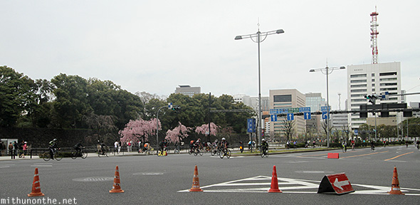Road closed for cycling Tokyo Japan
