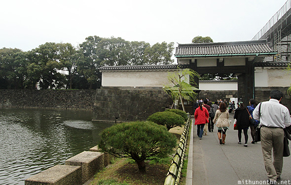 Tokyo Imperial palace gate Japan