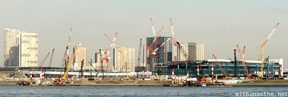 Tokyo Olympic stadium project site Japan