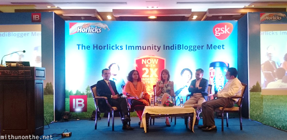 Horlicks panel Indiblogger meet