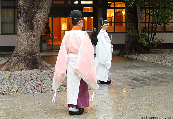 Japanese priests traditional dress Tokyo