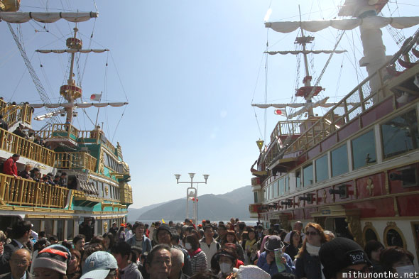 Pirate boats Hakone cruise tours