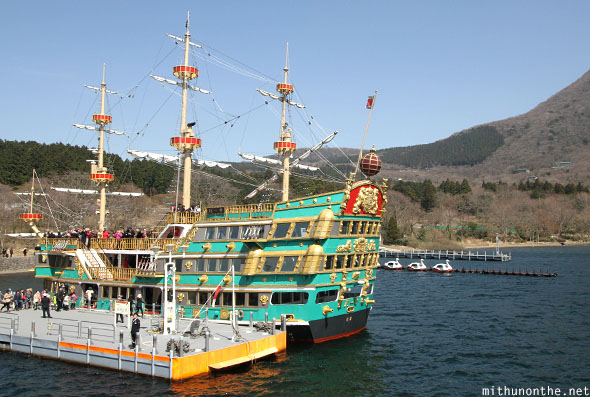 Pirate ship Hakone sightseeing tour