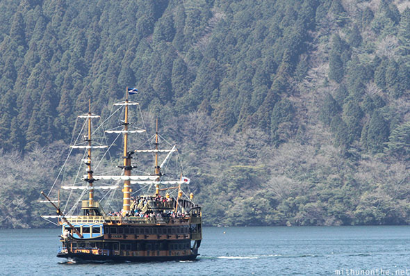 Pirate ship lake ashi Hakone Japan