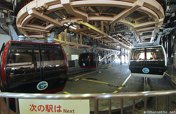 Cable car Hakone ropeway Japan