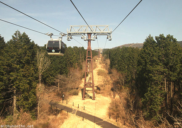 Hakone ropeway cable car Japan