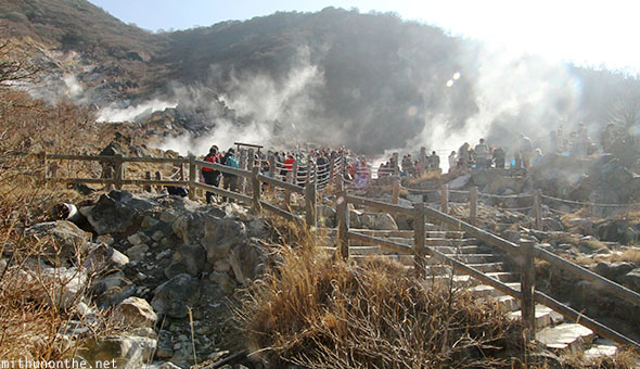 Owakudani hot springs Hakone