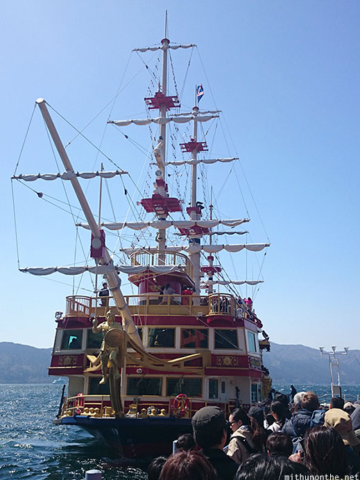Pirate ship Lake Ashi cruise Japan