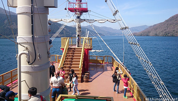 Pirate ship outer deck Hakone