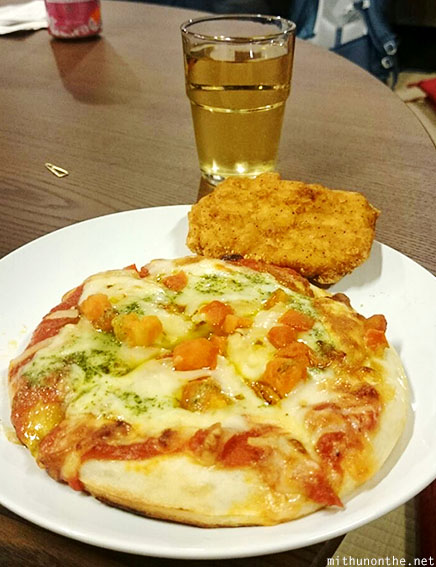 7 Eleven pizza chicken cutlet Japan