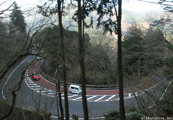 Hakone mountain road Japan