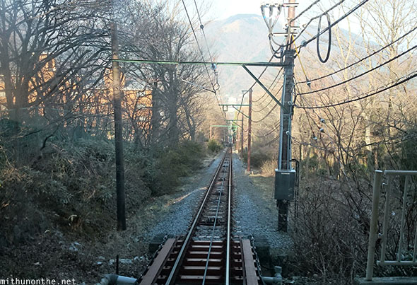 Hakone tram mountain railtrack Japan