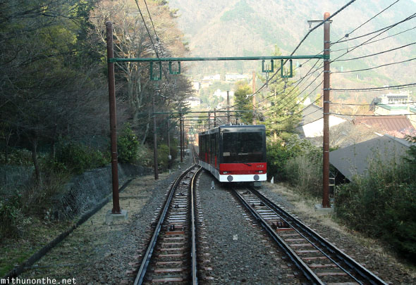 Hakone tram mountain train Japan