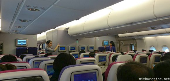 Inside Thai Airways Airbus A380 seat layout