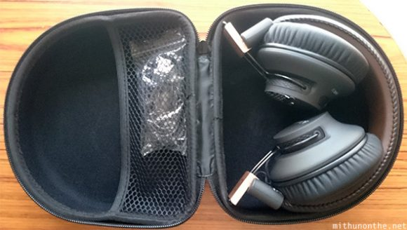 Avantree wireless headphones inside case