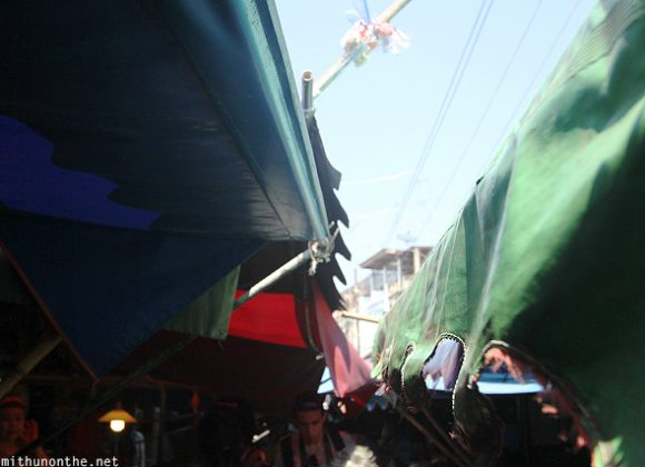Shop umbrella maeklong market Thailand