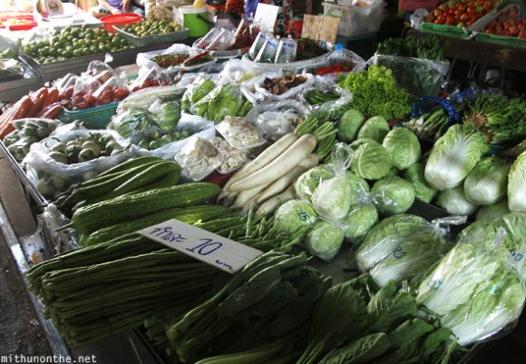 Vegetables market Maeklong Thailand