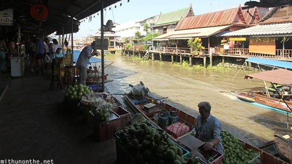 Amphawa floating market fruit vendor