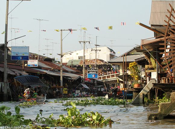 Amphawa floating market weed river