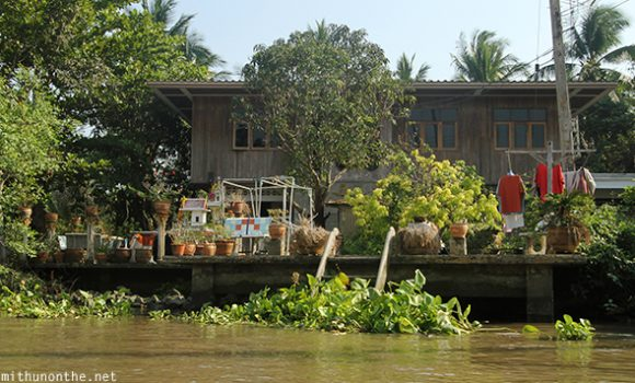 House Amphawa floating market Thailand