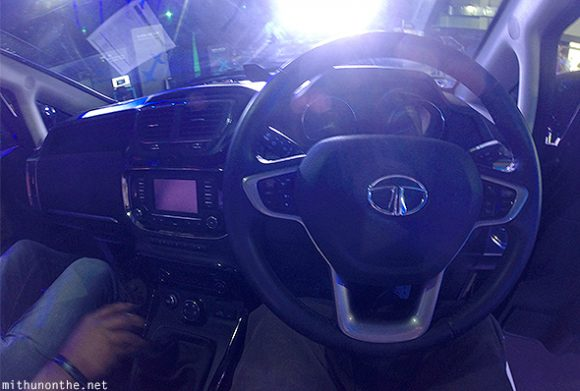 Tata Hexa interior dashboard steering