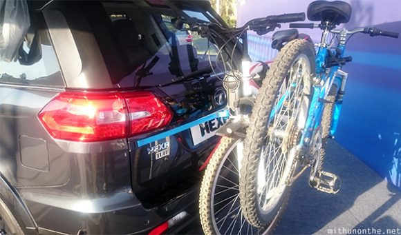 TATA Hexa bike rack mount
