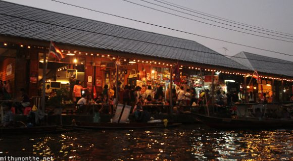 Amphawa floating market evening shops