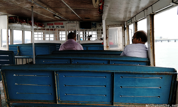 Inside Fort Kochi ferry