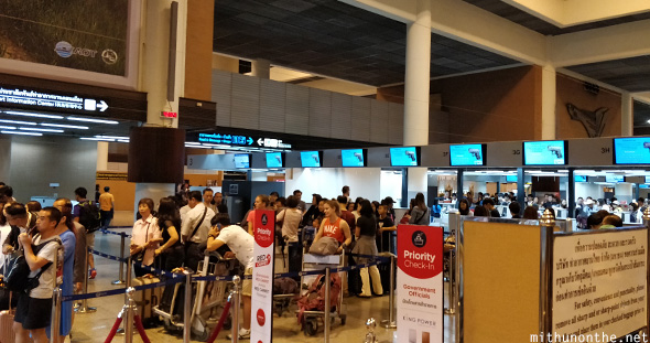 Don Muang airport check-in