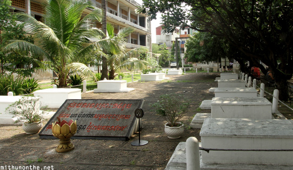 Tuol Sleng genocide museum cemetery
