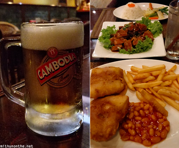 Cambodia beer fish & chips